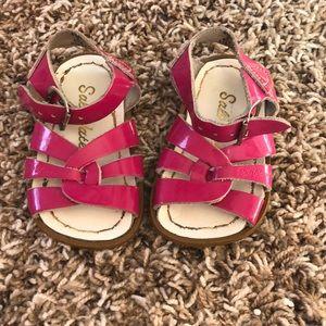 EUC Salt water girls pink sandals